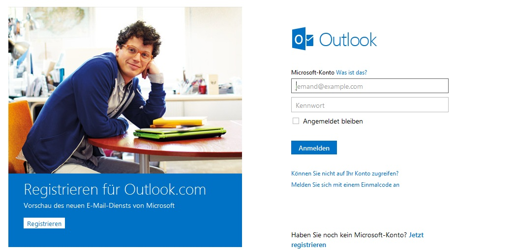 outlook Startseite